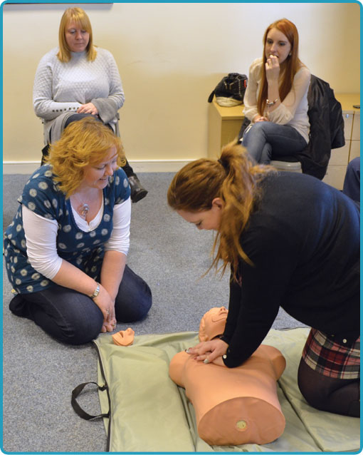 CPR BLS and AED Level 2 training northamptonshire